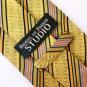 Daniel De Fasso Studio Yellow Striped Designer Tie